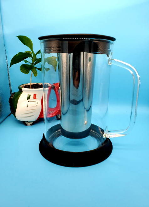 COLD BREW ICED COFFE MAKER BOROSILICATE GLASS AND STAINLESS STEEL