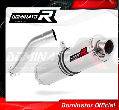 BMW F650 CS 2002-2005 SLIP ON EXHAUST MUFFLER DOMINATOR ROUND