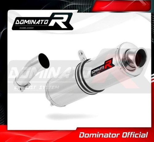 BMW F650 GS 2008-2012 SLIP ON EXHAUST MUFFLER DOMINATOR ROUND