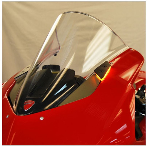 DUCATI PANIGALE MIRROR BLOCK OFF TURN SIGNALS BY NEW RAGE CYCLES