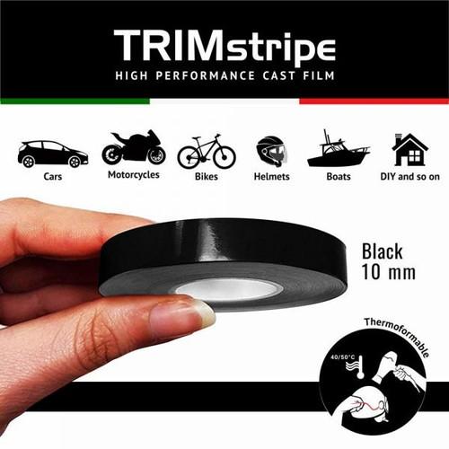 BLACK AUTOMOTIVE MOTORCYCLE 10mm TRIM PIN TAPE DETAIL PINSTRIPE ADHESIVE VINYL