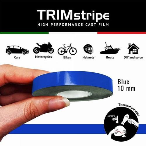 BLUE AUTOMOTIVE MOTORCYCLE 10mm TRIM PIN TAPE DETAIL PINSTRIPE ADHESIVE VINYL