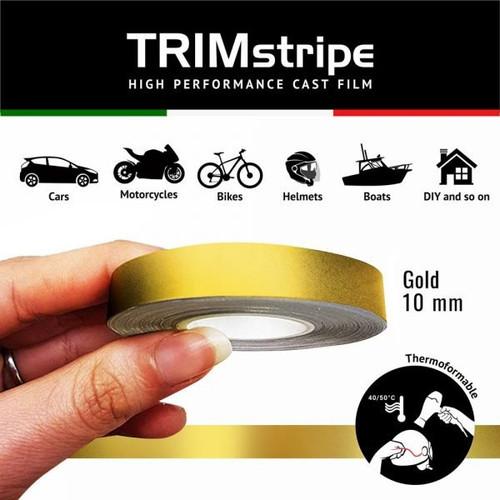 GOLD AUTOMOTIVE MOTORCYCLE 10mm TRIM PIN TAPE DETAIL PINSTRIPE ADHESIVE VINYL