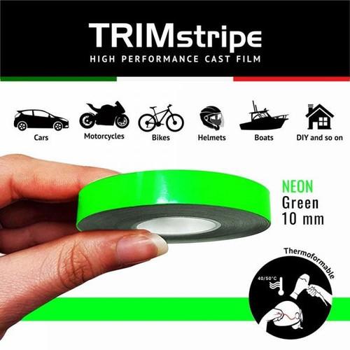 GREEN FLUR AUTOMOTIVE MOTORCYCLE 10mm TRIM PIN TAPE DETAIL PINSTRIPE ADHESIVE VINYL