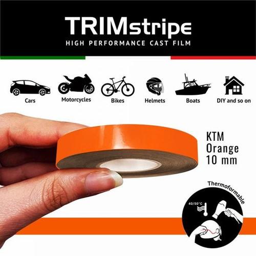 ORANGE KTM AUTOMOTIVE MOTORCYCLE 10mm TRIM PIN TAPE DETAIL PINSTRIPE ADHESIVE VINYL