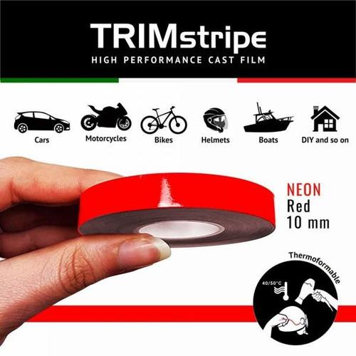 RED AUTOMOTIVE MOTORCYCLE 10mm TRIM PIN TAPE DETAIL PINSTRIPE ADHESIVE VINYL