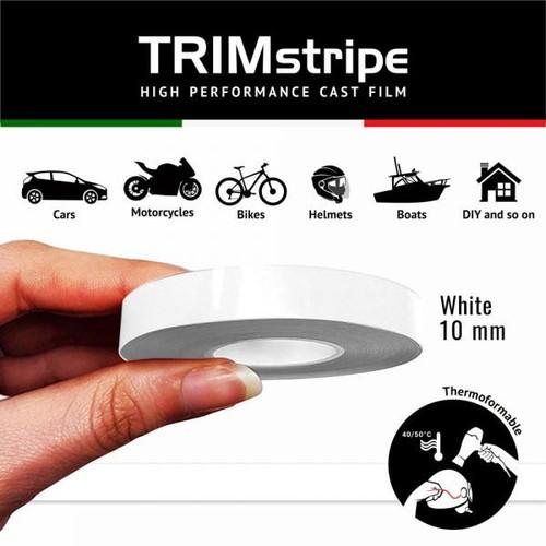 WHITE AUTOMOTIVE MOTORCYCLE 10mm TRIM PIN TAPE DETAIL PINSTRIPE ADHESIVE VINYL