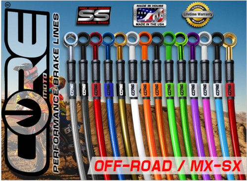KTM EXC AND MXC OFFROAD OFF ROAD FRONT AND REAR BRAKE LINE KIT BY COREMOTO