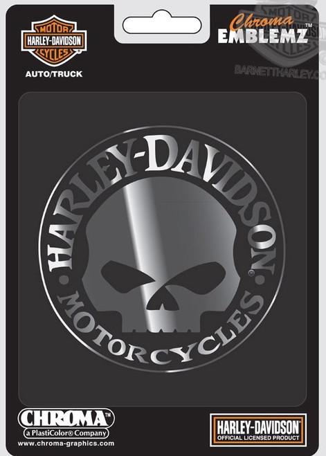 HARLEY DAVIDSON  WILLIE G SKULL EMBLEM 3D RAISED MOLDED DECAL CG9113
