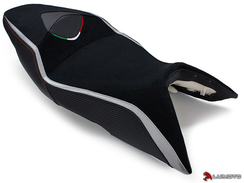 APRILIA SHIVER 2007-2009 TEAM ITALIA RIDER SEAT COVERS  BY LUIMOTO