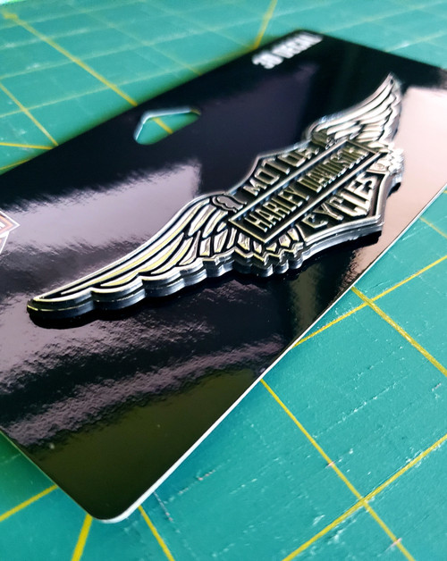 HARLEY DAVIDSON HD AUTO TRUCK MOTORCYCLE WINGS WINGED EMBLEM 3D DECAL GENUINE