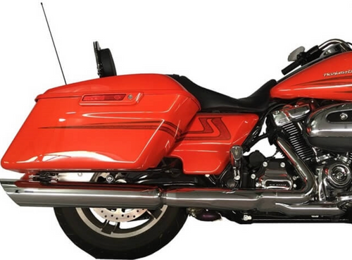 TAB PERFOMRANCE FITS HARLEY DAVIDSON TOURING  2017-UP CHROME TOURING SLASH CUT EXHAUST PIPES