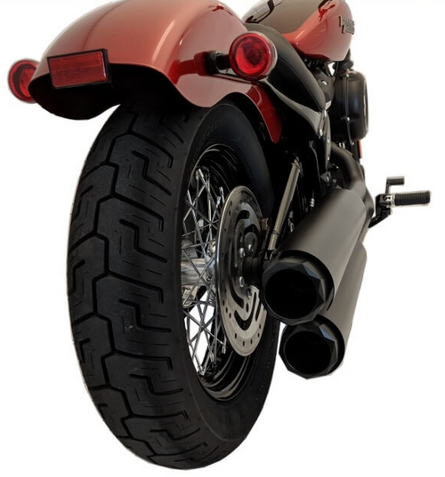 TAB PERFORMANCE FITS HARLEY DAVIDSON SOFTAIL LONG CHROME TIP COMPATIBLE EXHAUST PIPES
