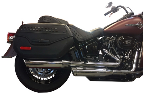 TAB PERFORMANCE FITS HARLEY DAVIDSON SOFTAIL SHORT CHROME TIP COMPATIBLE EXHAUST PIPES