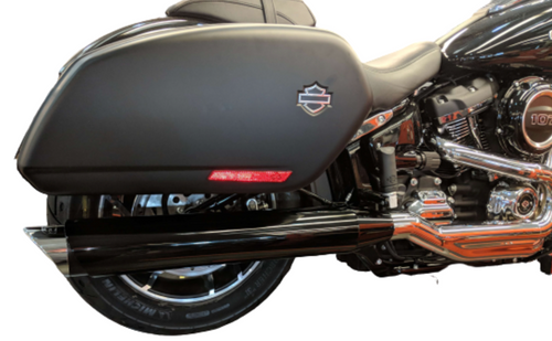 TAB PERFORMANCE FITS HARLEY DAVIDSON SOFTAIL CHROME TIP COMPATIBLE SPORT GLIDE EXHAUST PIPES