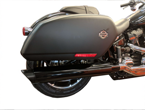 TAB PERFORMANCE FITS HARLEY DAVIDSON SOFTAIL BLACK TIP COMPATIBLE SPORT GLIDE EXHAUST PIPES