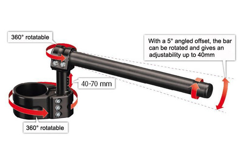 YAMAHA YZF-R1 MULTICLIP TOUR ADJUSTABLE RISER CLIP-ON  FOR THE 2009-2014
