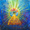 Eye Of Enlightenment Magical Energy Painting - Giclee Print
