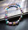 """Rainbow Joy Aura"" Quartz Crystal Necklace - Makes you happy. Heals conflicts."