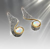 """The """"Leopard Lady"""" Opal And Silver Totem Earrings"""