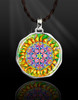 """The Flower Of Life Magical Energy Pendant  From the """"New Bohemian"""" Collection. Platinum Plated."""