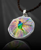 """Hummingbird Magic Energy Pendant  From the """"New Bohemian"""" Collection. Platinum Plated."""