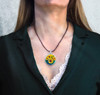 "Sunflowers Life-Joy Energy Pendant  From the ""New Bohemian"" Collection. Platinum Plated."