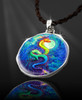 """Dragon's Moon Energy Pendant  From the """"New Bohemian"""" Collection. Platinum Plated."""
