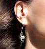 Calla Lily Spiritual Purity Earrings - Pearl, Silver & Gold