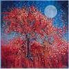"Harvest Moon Abundance Blessing  - Original energy painting. 48"" x 48"" inches."