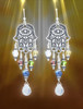 Hamsa Five Element Spiritual Protection Earrings - Calls on all 5 elements to protect you.