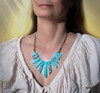 The Tranquil Mind Energy Necklace - Turquoise Ocean Impression Jasper Locates And Releases Hidden Stresses