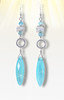 Stone Of Optimism And Protection Aqua Chalcedony Earrings With Moonstone & Blue Apatite