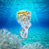 The Coral Sun Ring Of Creation  - Citrine and Peridot In A Silver Coral Design