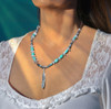 """Sacred Feather """"Blessings From Heaven"""" Necklace - Turquoise And Labradorite"""