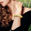 """The """"Joyful New Life"""" Yellow Opal Energy Bracelet With Rainbow Moonstone"""