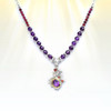 "The ""Awakened One"" Chakra Activation Necklace - Gem grade amethyst and garnet in a sacred design help foster a true spiritual awakening."