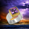 The Genesis Ring -  Enhances your connection to the source.  Gem grade amethyst, gold and silver.
