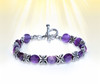 """The """"Sacred Gift"""" Flower Bracelet - Jasmine flower motif represents you receiving a great gift from spirit. Available in amethyst, pink quartz or green onyx."""