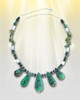 "Venus'  ""Awakened Love"" Necklace - Heals the heart and helps love bloom. Chrysoprase,  Serpentine, Moonstone And Green Garnet"