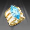 The Positive Relationships Ring.  For relationship building and healing. Gem grade blue topaz,  gold and silver.