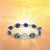 The Stone Of Wisdom And Intuition Bracelet - Authentic sodalite with sacred symbol