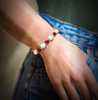 """The """"Get What You Want"""" Law Of Attraction Bracelet - Red Jade And Howlite Helps You Energetically Attract The Things You Need"""