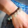 """The """"Forever Happy"""" Positive Feelings Bracelet. Mood boosting pearls and aqua chalcedony."""