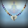 "The ""Love Magnet"" 7 Chakra Heart Necklace - Attracts love's energies to your life."