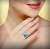 """The Crystal Blue Waters Awakening Ring - Guaranteed Authentic Swedish Berslaggsten """"Glacial Waters"""" Stone - Rejuvenates The Soul"""