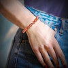 """The """"Super Motivation"""" Energy Bracelet - Brings back your fire and passion. Fired carnelian and Tibetan agate."""