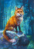 Forest Fox Energy Painting