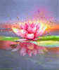 Pink Lotus Energy Painting - Giclee Print