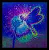 """Blue Dragonfly  - Emits powerful """"life-force"""" energies - Giclee Print"""